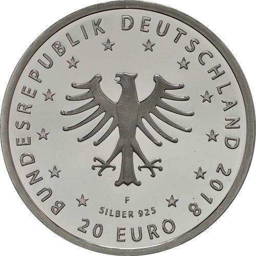 Rückseite:Deutschland : 20 Euro Froschkönig  2018 PP