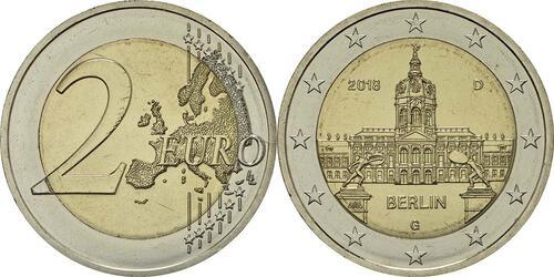 Lieferumfang:Deutschland : 2 Euro Berlin - Schloss Charlottenburg  2018 bfr