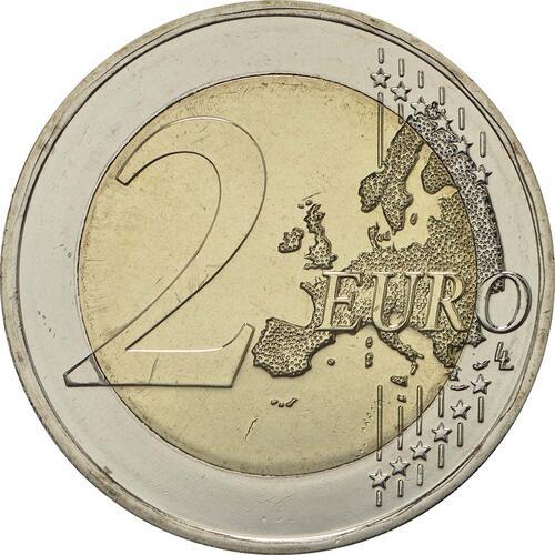 Vorderseite:Deutschland : 2 Euro Helmut Schmidt  2018 bfr