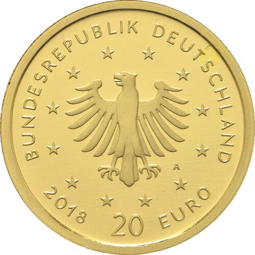 Rückseite:Deutschland : 20 Euro Uhu  2018 Stgl.