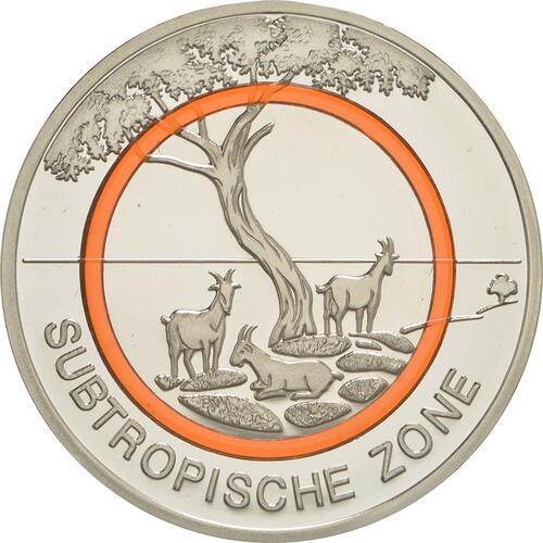 Vorderseite:Deutschland : 5 Euro Subtropische Zone  2018 PP