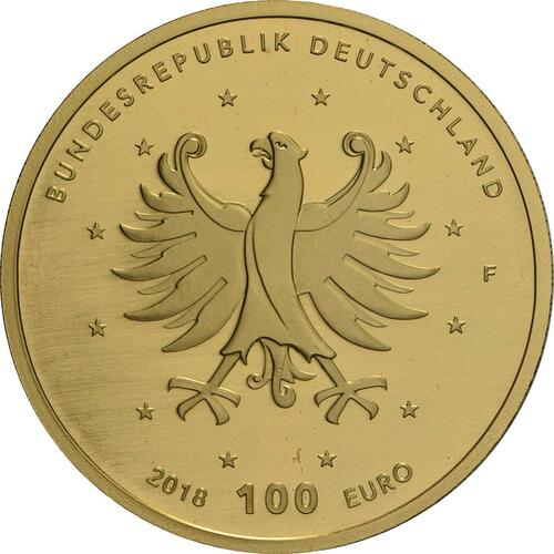 Rückseite:Deutschland : 100 Euro Schlösser Augustusburg und Falkenlust in Brühl  2018 Stgl.