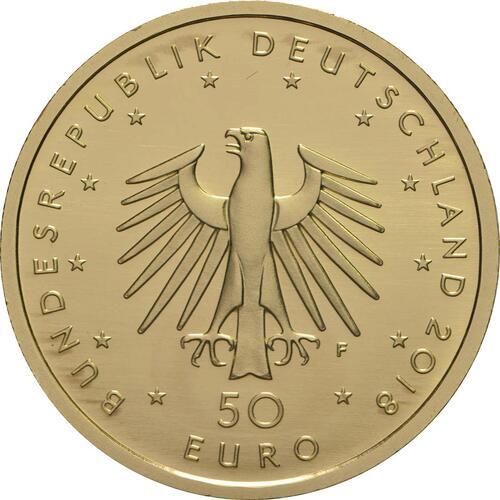Rückseite:Deutschland : 50 Euro Kontrabass  2018 Stgl.