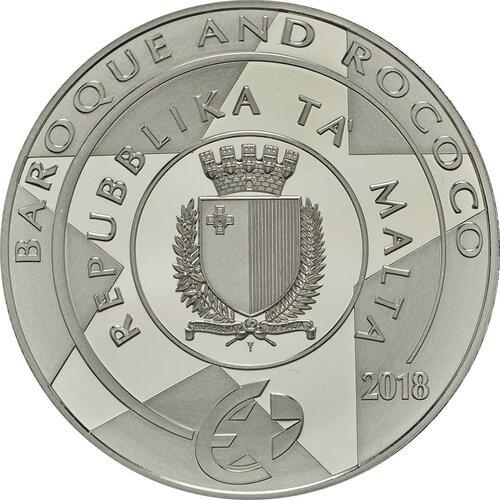 Rückseite:Malta : 10 Euro Taufe Christi  2018 PP