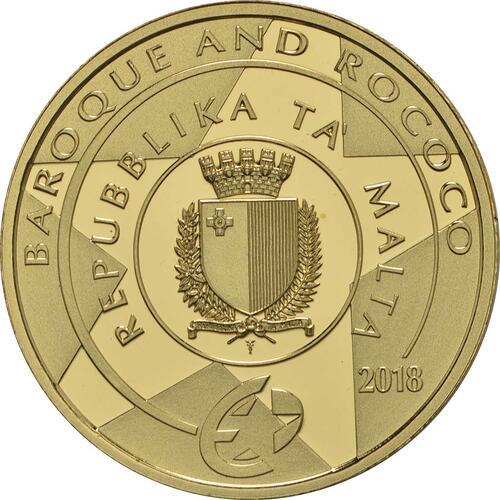 Rückseite :Malta : 50 Euro Taufe Christi  2018 PP