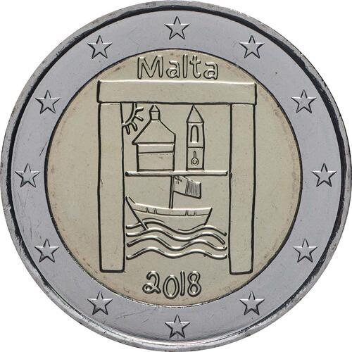 Rückseite:Malta : 2 Euro Kulturelles Erbe  2018 bfr