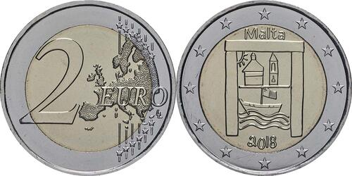 Lieferumfang:Malta : 2 Euro Kulturelles Erbe  2018 bfr