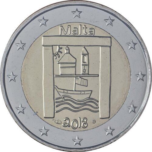 Rückseite:Malta : 2 Euro Kulturelles Erbe  2018 Stgl.