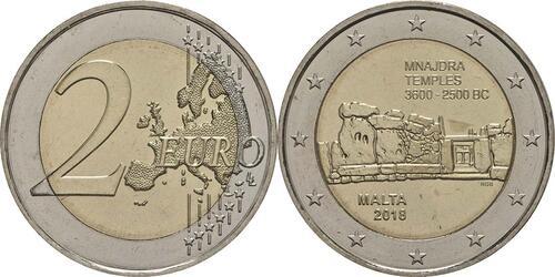 Lieferumfang:Malta : 2 Euro Mnajdra  2018 bfr