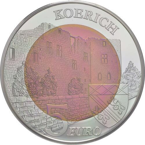Vorderseite:Luxemburg : 5 Euro Schloss Koerich  2018 PP