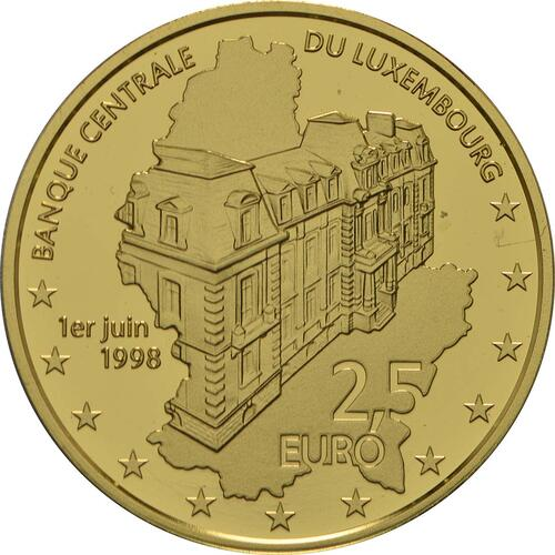 Rückseite:Luxemburg : 2,5 Euro 20 Jahre Luxemburger Zentralbank  2018 PP