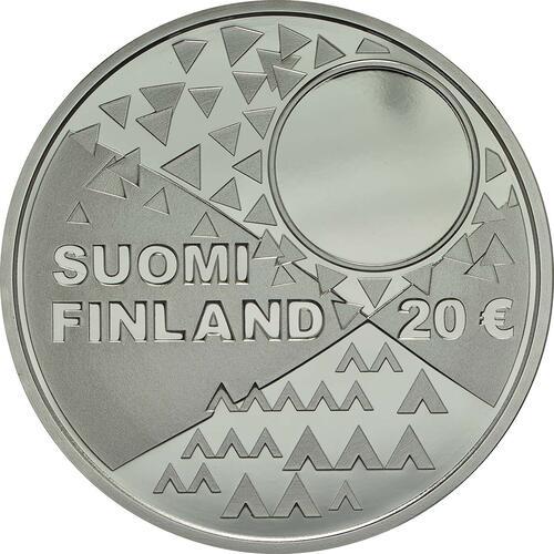 Rückseite:Finnland : 20 Euro Samische Kultur  2018 PP