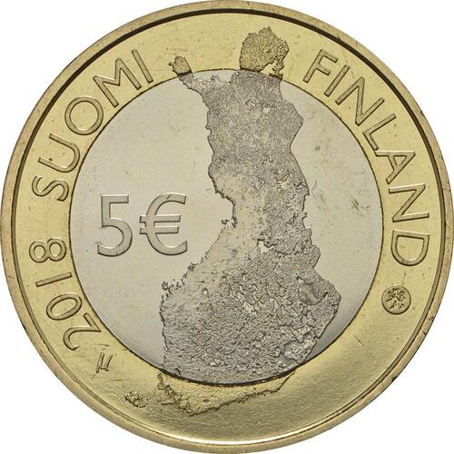 Rückseite :Finnland : 5 Euro Koli National Park  2018 bfr