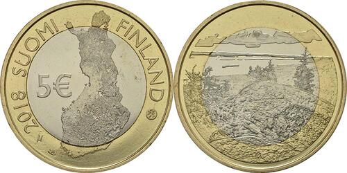 Lieferumfang :Finnland : 5 Euro Koli National Park  2018 bfr