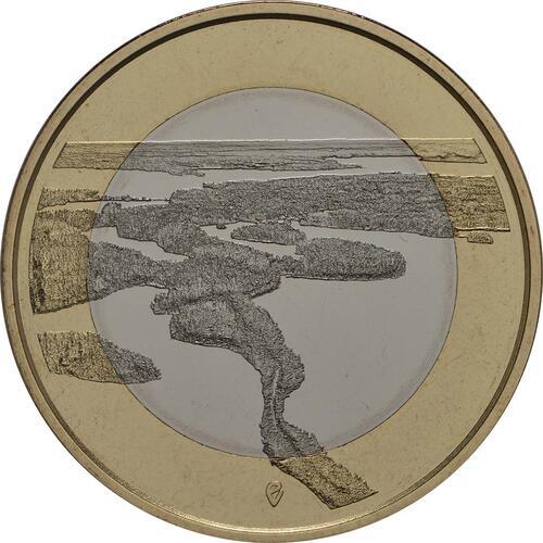 Vorderseite:Finnland : 5 Euro Punkaharju-Grat  2018 PP