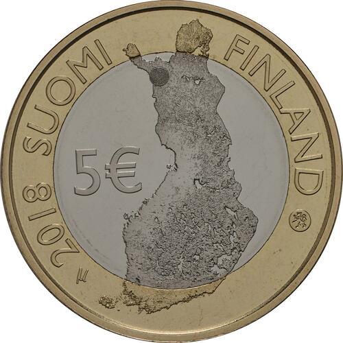 Rückseite:Finnland : 5 Euro Pallastunturi Fels  2018 PP