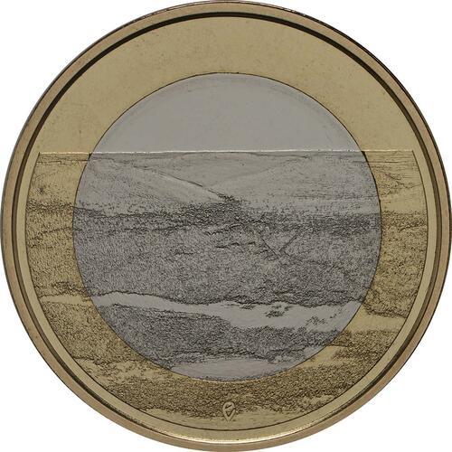 Vorderseite:Finnland : 5 Euro Pallastunturi Fels  2018 PP