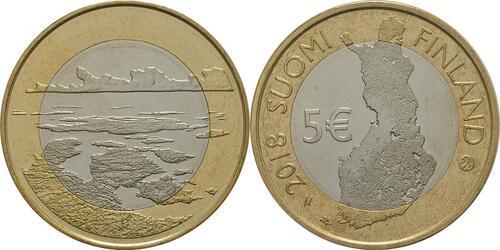Lieferumfang:Finnland : 5 Euro Schärenmeer  2018 bfr