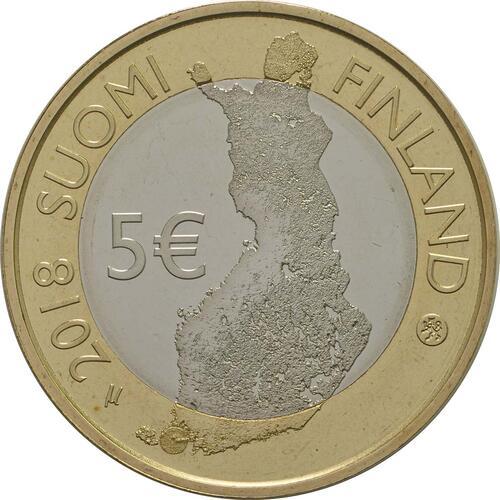 Rückseite:Finnland : 5 Euro Schärenmeer  2018 PP
