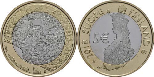 Lieferumfang:Finnland : 5 Euro Fluss Porvoonjoki  2018 bfr