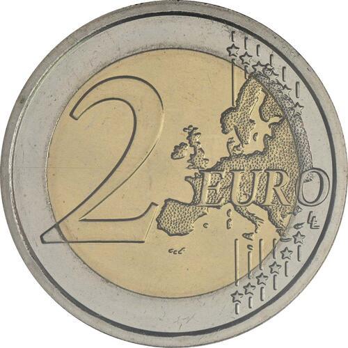 Vorderseite:San Marino : 2 Euro 420. Jahrestag der Geburt von Gian Lorenzo Bernini  2018 Stgl.