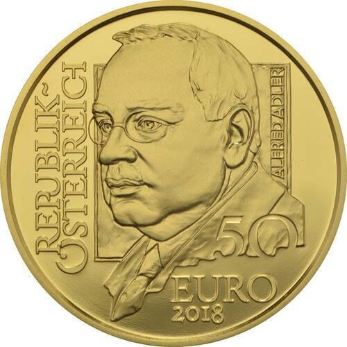 Rückseite:Österreich : 50 Euro Alfred Adler  2018 PP