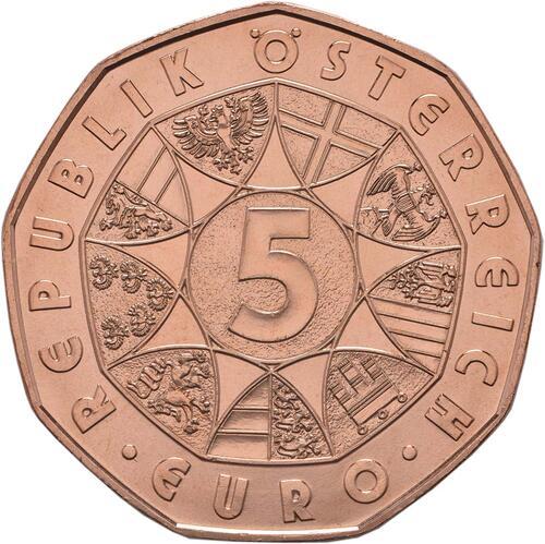 Rückseite:Österreich : 5 Euro Osterhase  2018 bfr