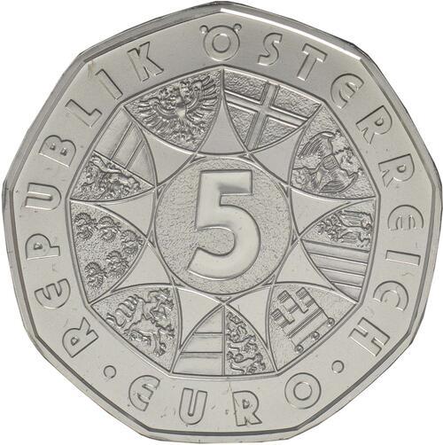 Rückseite:Österreich : 5 Euro Osterhase  2018 Stgl.