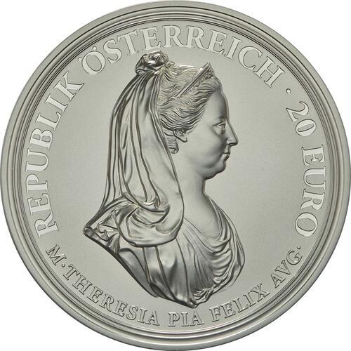 Vorderseite:Österreich : 20 Euro Milde und Gottvertrauen  2018 PP