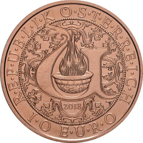 Rückseite:Österreich : 10 Euro Uriel - der Lichtengel  2018 bfr