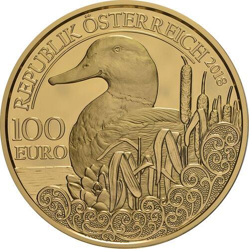 Rückseite:Österreich : 100 Euro Stockente  2018 PP