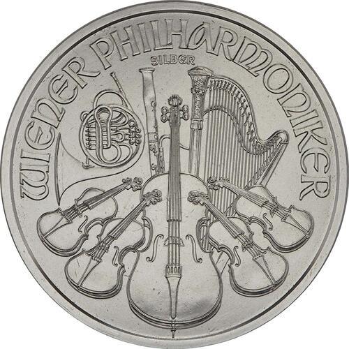 Vorderseite:Österreich : 1,5 Euro Philharmoniker  2018 Stgl.