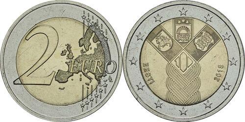 Lieferumfang :Estland : 2 Euro 100 Jahre Unabhängigkeit  2018 bfr