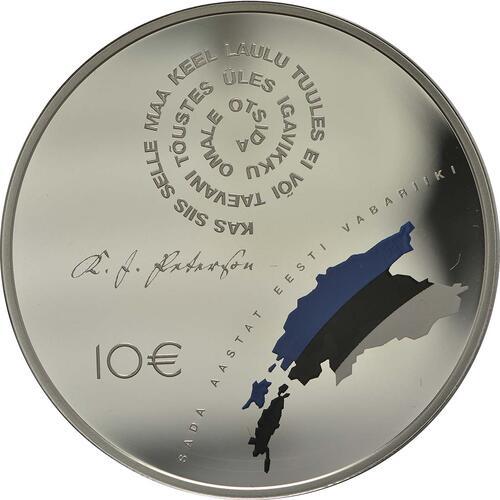Vorderseite:Estland : 10 Euro 100 Jahre Republik Estland  2018 PP