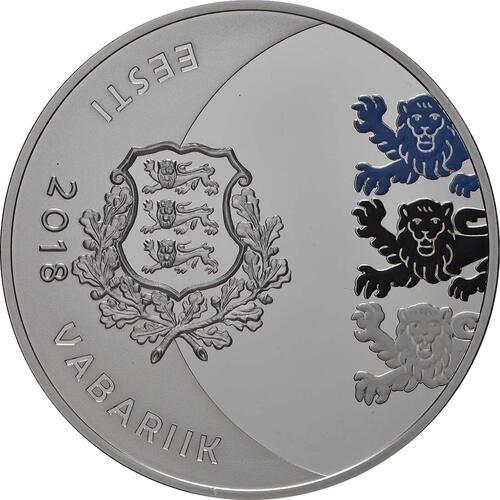 Rückseite:Estland : 15 Euro Jaan Tönisson  2018 PP