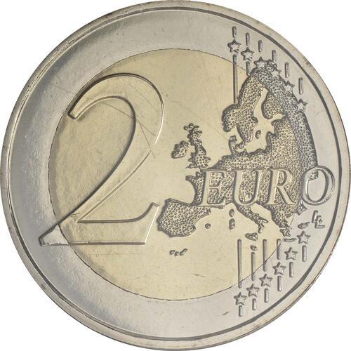 Vorderseite:Andorra : 2 Euro 100 Jahre Hymne Andorras  2017 Stgl.
