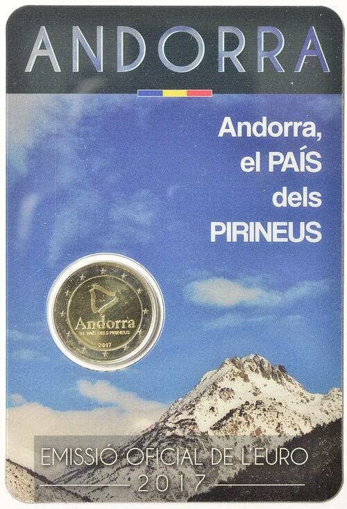 Lieferumfang:Andorra : 2 Euro Andorra - Das Land in den Pyrenäen  2017 bfr