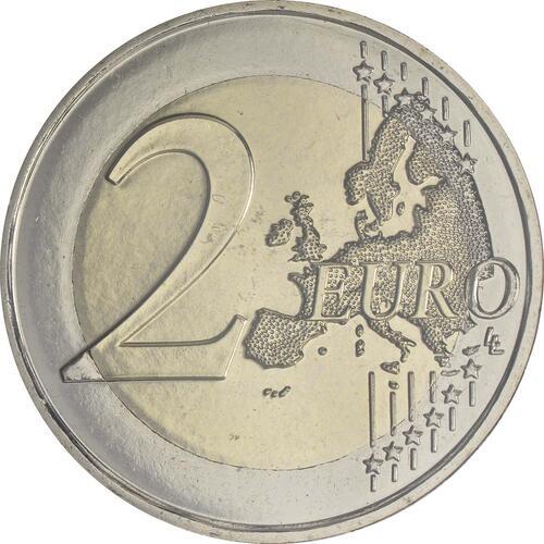 Vorderseite:Andorra : 2 Euro Andorra - Das Land in den Pyrenäen  2017 bfr