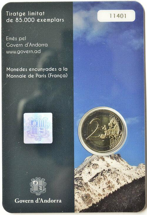 Zertifikat:Andorra : 2 Euro Andorra - Das Land in den Pyrenäen  2017 Stgl.