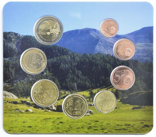 Rückseite:Andorra : 3,88 Euro KMS Andorra  2017 bfr