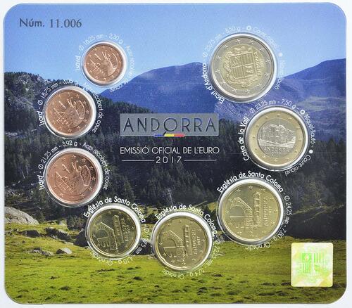 Vorderseite:Andorra : 3,88 Euro KMS Andorra  2017 bfr