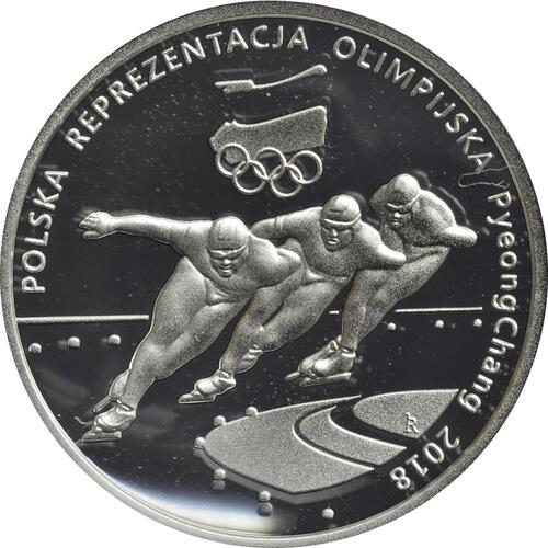 Vorderseite:Polen : 10 Zloty Olympia Team zur Oly Pyeong Chang  2018 PP