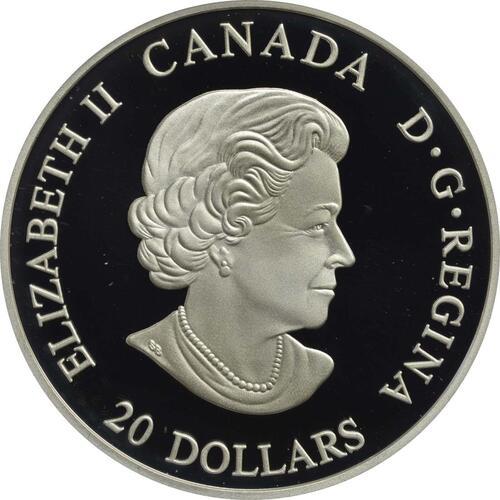 Rückseite:Kanada : 20 Dollar Nordische Galionsfiguren - Northern Fury  2018 PP