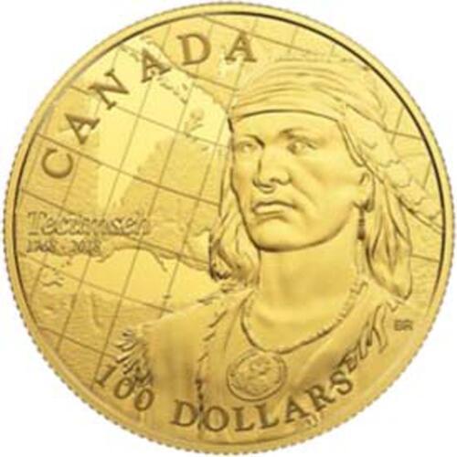 Lieferumfang:Kanada : 100 Dollar 250. Geb. von Tecumseh - Stammesführer der Shawnee  2018 PP