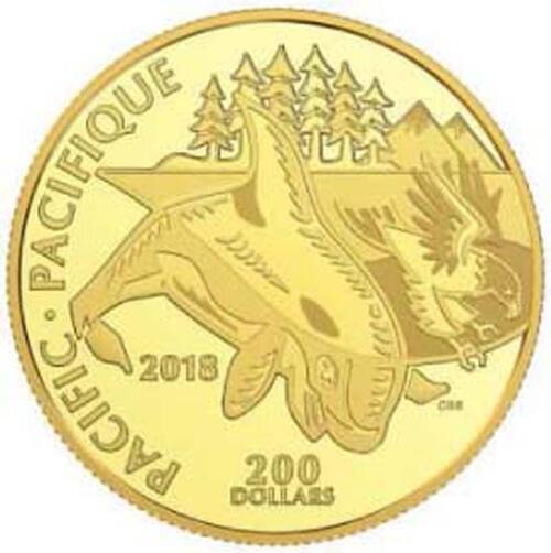 Lieferumfang:Kanada : 200 Dollar Symbole kanadischer Küsten - Pazifik  2018 PP