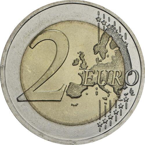 Vorderseite:Lettland : 2 Euro 100 Jahre Unabhängigkeit  2018 bfr