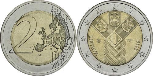 Lieferumfang:Litauen : 2 Euro 100 Jahre Unabhängigkeit  2018 bfr