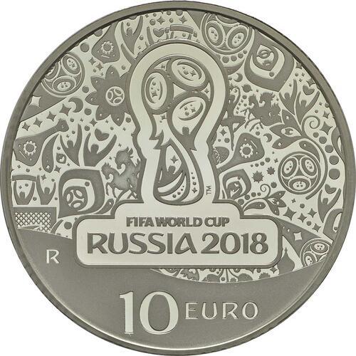 Vorderseite:Italien : 10 Euro FIFA Fußball WM  2018 PP
