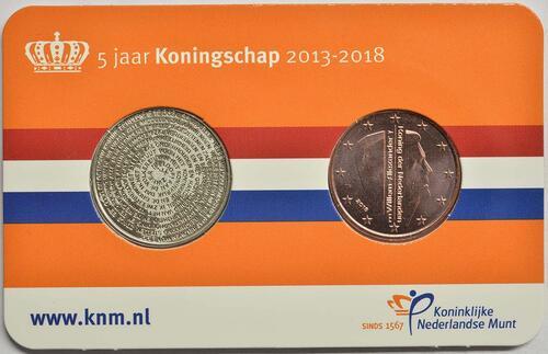 Lieferumfang :Niederlande : 5 Cent 5 Jahre König Wilhelm Alexander + Medaille  2018 bfr