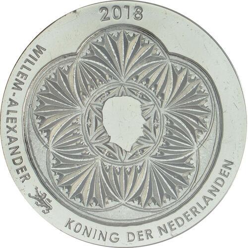 Rückseite :Niederlande : 5 Euro Leeuwarden Europäische Kulturhauptstsadt  2018 bfr